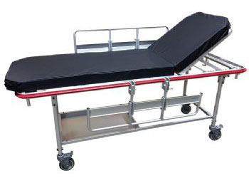 MRI non-ferromagnetic stretcher
