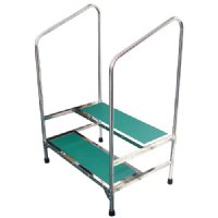 Double Foot Stool With 41 Quot Handle